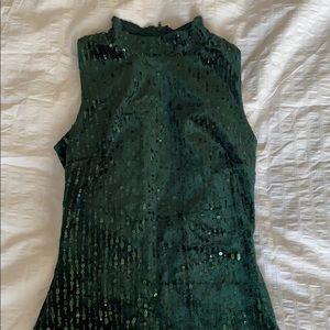 Hunter Green Bodycon Dress